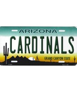 Cardinals Arizona State State Background Metal License Plate Tag (Cardin... - $11.35