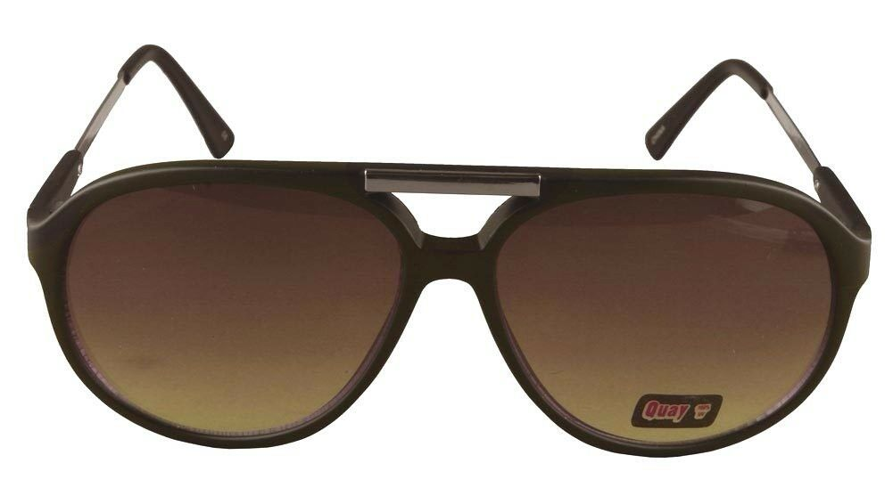 NEW Quay Eyeware Australia 1489 Matte Black Chocolate Brown 100% UV Sunglasses