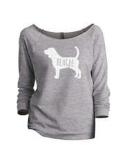 Thread Tank Beagle Dog Silhouette Women's Slouchy 3/4 Sleeves Raglan Sweatshirt  - $24.99+