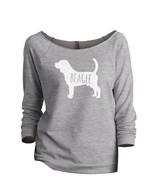 Thread Tank Beagle Dog Silhouette Women's Slouchy 3/4 Sleeves Raglan Swe... - $24.99+
