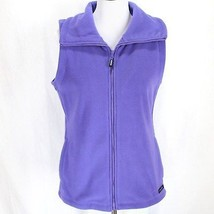 Calvin Klein Performance Fleece Vest Sz S Purple Zip Front Device Pockets  - $19.99