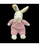 "Vintage Carter's Classics Pink White Bunny Rabbit Plush Rattle 14"" Tall ... - $13.32"