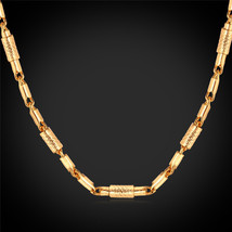 Necklaces '18K' Stamp 2MM DIY 18K Yellow Gold Plated N1141 - $23.99