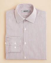 Dkny Boys' Thin Stripe Button Down Shirt, White W/Red Stripes, Size 16R - $19.79
