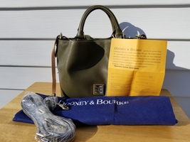 NWT Dooney & Bourke Saffiano Leather Mini Barlow Crossbody In Olive Green - $145.00
