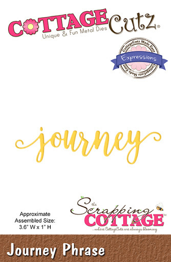 Journey. Cottage Cutz Die. Card Making. Scrapbooking