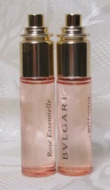 2 Pc LOT-- Bvlgari ROSE ESSENTIAL (.33oz Each) Pocket Eau De Parfum Spra... - $26.95