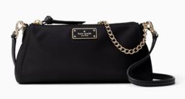 Kate Spade Nylon Crossbody Clutch wilson road jane Convertable ~Black~ N... - $180.98 CAD