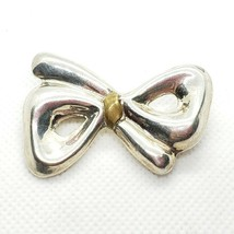 Taxco Mexico Sterling Silver 925 Figural 3D Bow Brooch Pin Free Shipping - $18.99