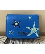 Kate Spade Small Leather Trifold Wallet Shore Thing Starfish Blue Novelt... - $79.15