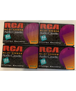 RCA RC60 Hi-Fi Stereo Audio Cassette Blank Tapes NEW SEALED 60 minute - ... - $9.49