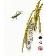 Grasshopper 22x30 Hand Numbered Ltd. Ed. Chinese Print Ch'i Pai-shih Asi... - $64.33