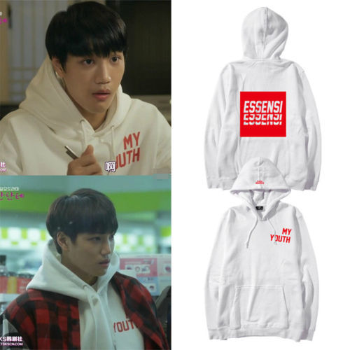 KPOP EXO KAI Hoodie Andante Pullover THE WAR Sweater Letter Sweatershirt