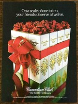 1981 Canadian Club Whiskey Christmas PRINT AD The Best in the House - $9.89