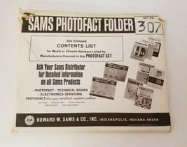 Vtg Sams Photofact Set 307 Folders 1-17 Tape Deck Television Stereo Radi... - $40.64