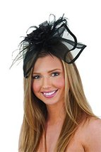 Jacobson Hat Company Women's Mini Hat Headband with Feathers, Black, Adult - $4.90
