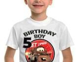 Disney Cars Tow Mater Birthday Shirt Matching Family Tshirt Party T-shirt Boy - ₹907.56 INR