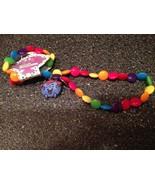 Little Men Little Miss Giggles Multi Color Stretch Necklace & Bracelet N... - $14.99