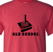 Old School Video game controller T-shirt vintage style distressed heather red image 1