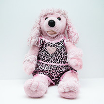 Build A Bear Plush Pink Poodle In Animal Leopard Print Pajama Shorts Top - $14.60