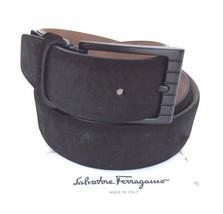 Salvatore Ferragamo Men's Tone-On-Tone Square Buckle Leather Belt Size 36 - $246.51