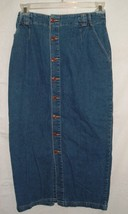 GAP Womens Sz 8 Button Front Full Length Maxi Denim Jean Skirt Boho Modesty - $19.98