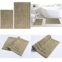 100% Cotton Two Piece Classicc Bath Rug Set 21''X34'' & 17''X24'' Anti Skid - $24.59