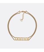AUTH Christian Dior 2019 J'ADIOR Limited Ed Necklace Chain Choker Gold - $429.99