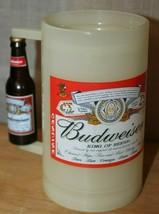 Budweiser Frost Plastic Mug Stein Beer Bottle Handle Glow In The Dark Vi... - $17.56
