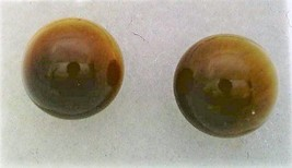 Tiger Eye Gemstone 8mm Stud Earrings - $9.03
