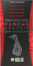 PASCHA: Organic Dark Chocolate 70% Cacao, 3.5 oz - $13.70