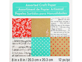 Michael's Melodies & Lace Assorted Craft Papers 8x8 Inches #257213