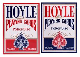 2 Decks Hoyle Standard Poker Playing Cards Red & Blue Brand New Decks - $7.99