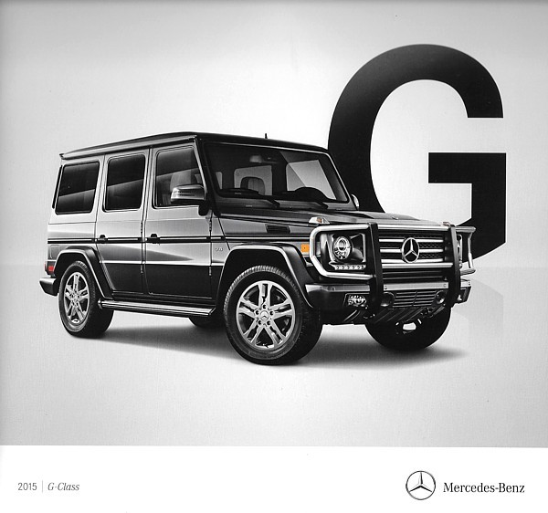 Primary image for 2015 Mercedes-Benz G-CLASS brochure catalog US 15 550 63 AMG