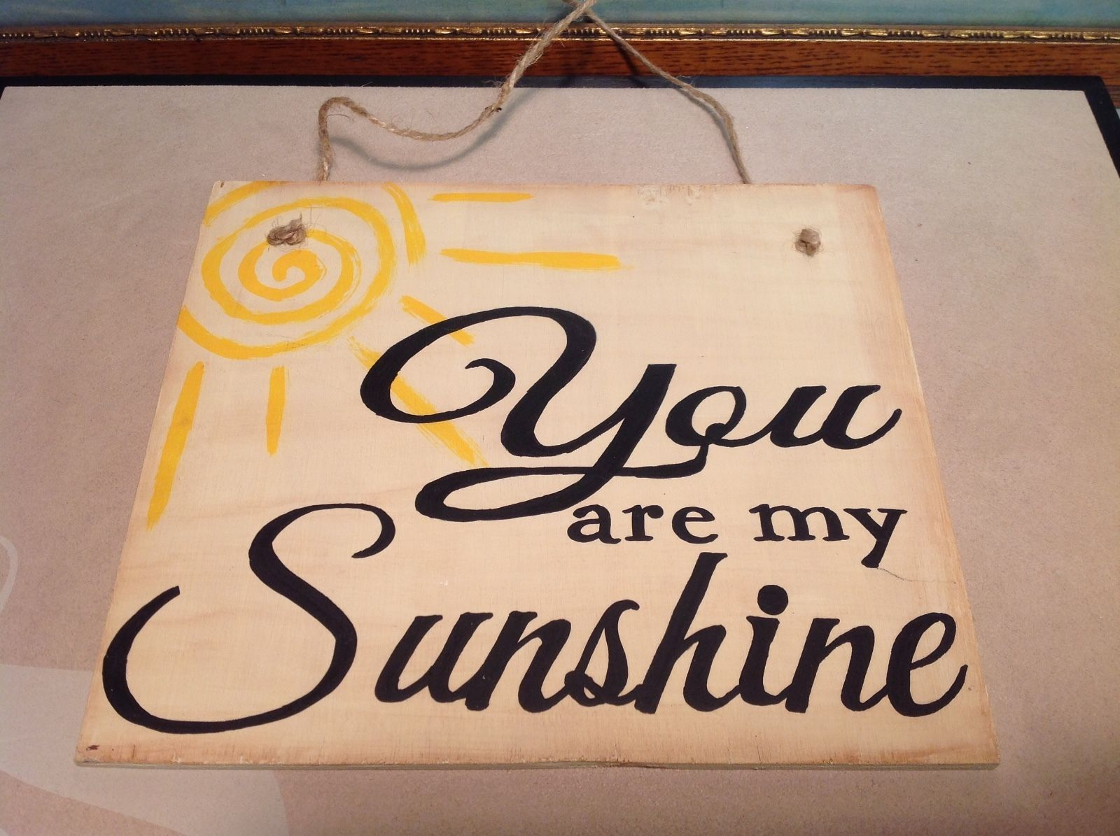 Elf Works Lane Satellite Workshop Custom Sign You Are My Sunshine