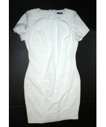 New NWT Womens 12 Tommy Hilfiger White Dress Lace Sleeve Accents Sheath ... - $134.10