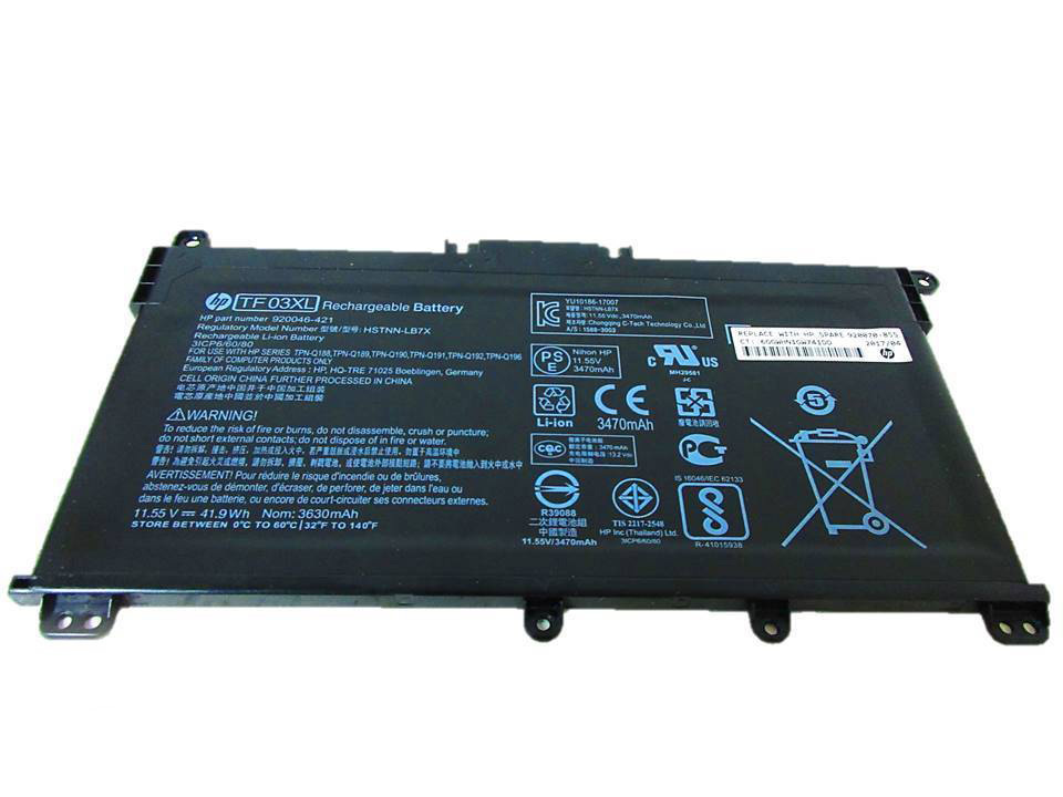 Primary image for HP Pavilion 15-CC566NR 2GW58UA Battery TF03XL 920070-855