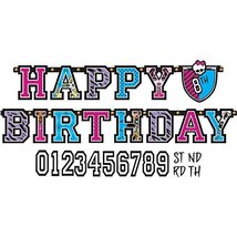 Jumbo Add-An-Age Letter Banner | Monster High Collection | Birthday - $10.84