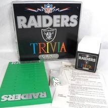NFL Raiders Trivia Board Game Sports Games International 1986 VTG - $39.55
