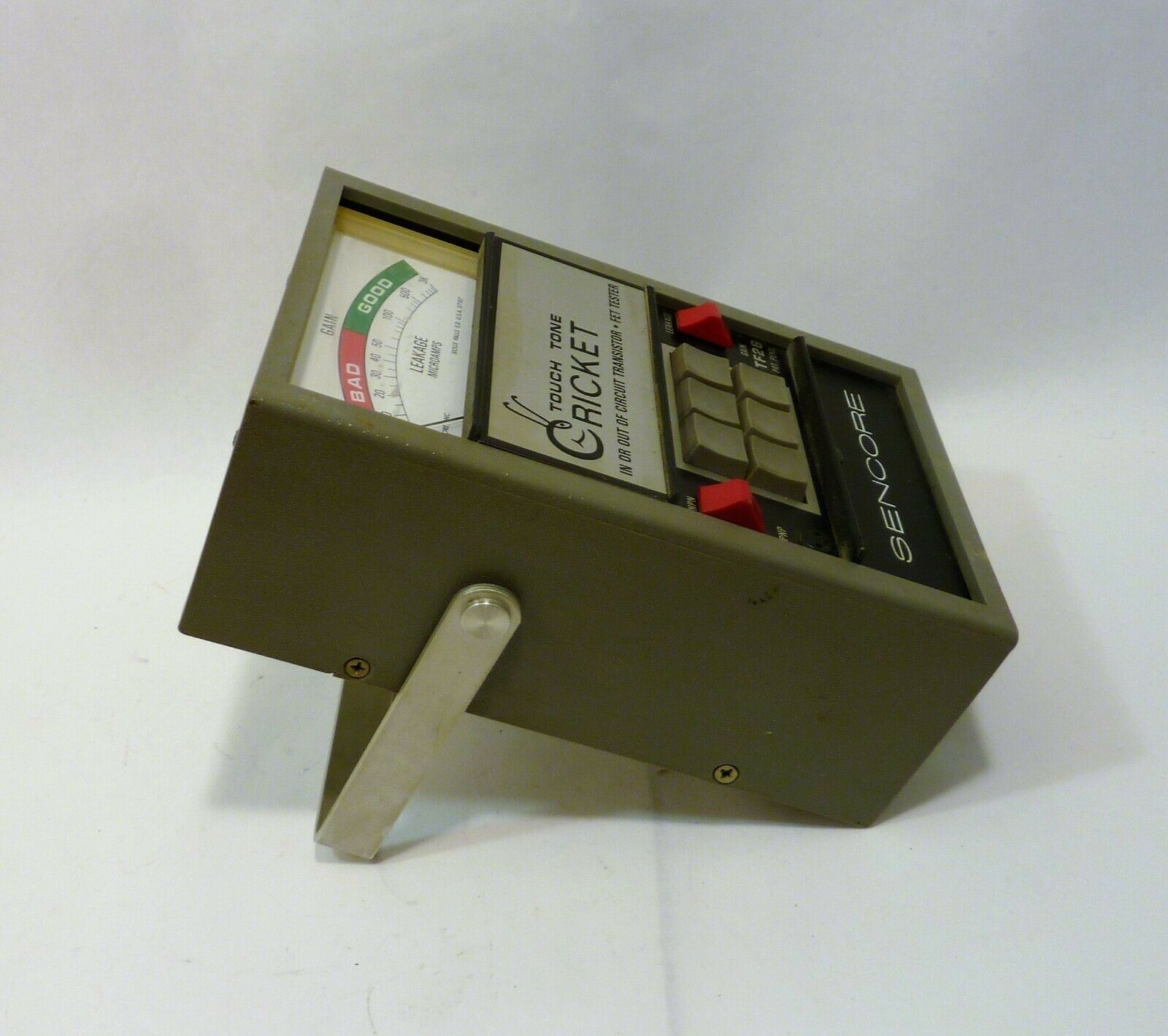 Sencore Touch Tone Cricket In or Out of Circuit Transistor Fet Tester