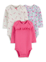Child of Mine by Carter's Baby Girl Long Sleeve Bodysuits, 3-Pack 0-3M - $24.99