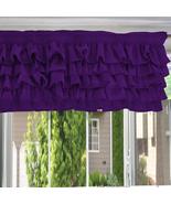 Chiffon PURPLE Ruffle Layered Window Valance any size  - $29.99+