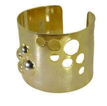 fine Plain Gold Plated multi Bangle Glass easily US - $13.16