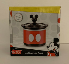 Disney Mickey Mouse Red and Black .65 Quart Mini Crock Pot, Brand New in... - $15.82