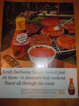 Vintage Kraft Barbecue Sauce Print Magazine Advertisement 1965 - $4.99