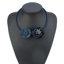 2018 Fashion Handmade Fabric Flower Necklaces & Pendants Statement Neckl... - $9.74