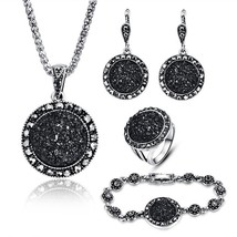 JEWELRY 4 Packs Hoop Pendant Simulated Diamond Sparkly Jewelry Sets with  - $34.52
