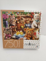 Big Ben Kittens In The Potting Shed Jigsaw Puzzle 750 Pieces Complete Cats - $5.93