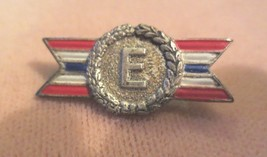 WWII E Production STERLING U.S. Military Army Navy Award pin pinback - $20.00
