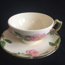 Franciscan Desert Rose Cup and Saucer Made in USA Flat Cup - $7.99